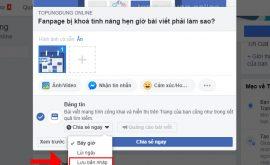 Fanpage bị khoá tính năng hẹn giờ bài viết và cách xử lý